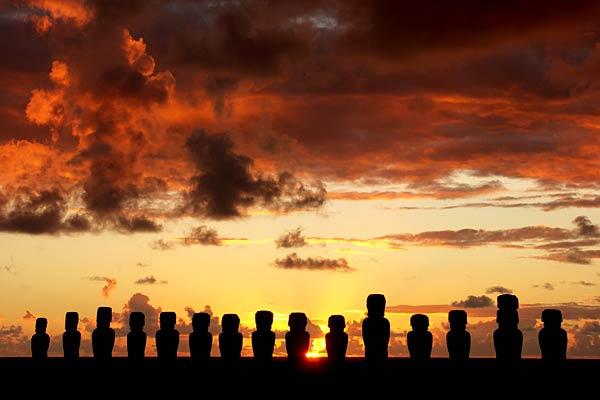 Isla de Pascua: primer destino del eclipse
